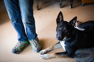 Lali Mitchell lives with her 1-year-old dog, Sita. (Photo by Kailey Broussard / News21)
